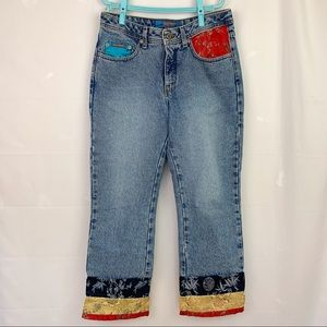 Vintage Hollywood Mid-Rise Cropped Jeans
